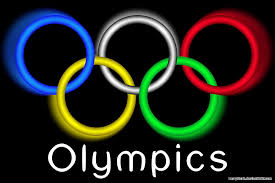Olympic rings:black background